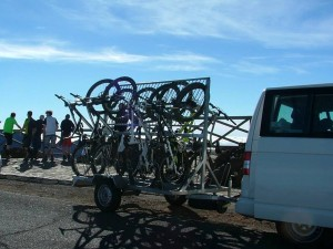 Taxi services with trailer for bikes